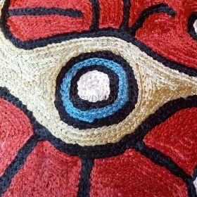 Pyntepute Abstrakt Rød detaljer