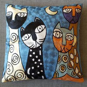 Pyntepute Fire Katter I Blå Natt uten innerpute