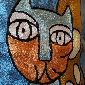 Pyntepute Fire Katter I Blå Natt detaljer