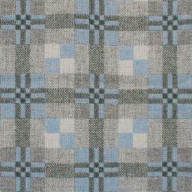 Pledd St Davids Cross Blue Stone mønster bakside