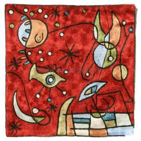 Pyntepute Abstrakt Rød Flat