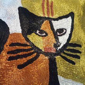 Pyntepute Katt med sitar